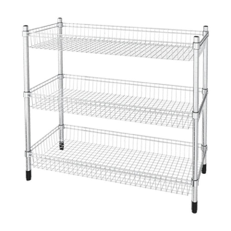 Three-layer basket unit