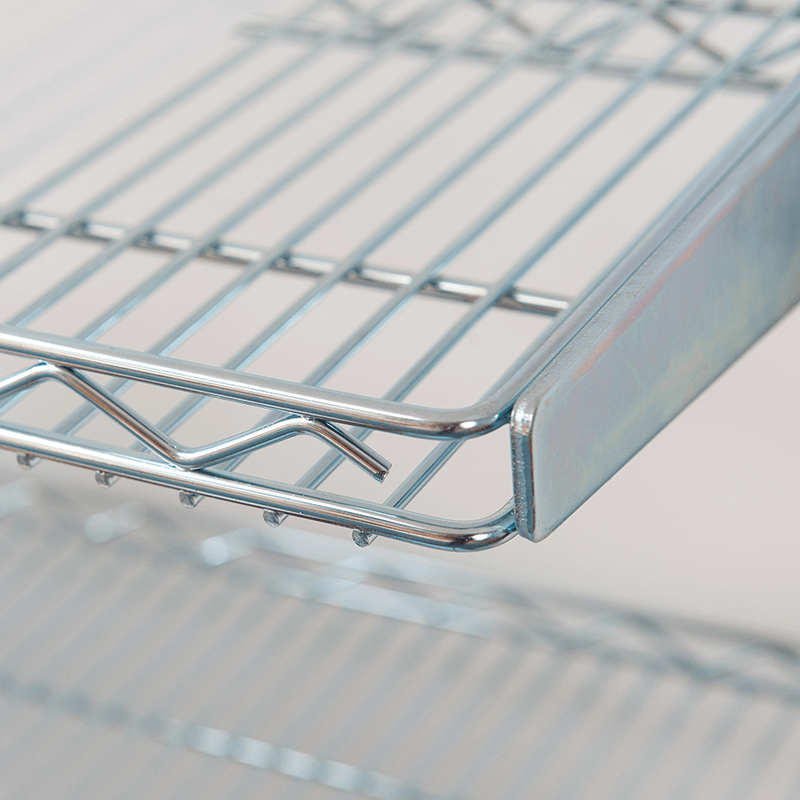 Nesting Wire Transporters with rotated shelves