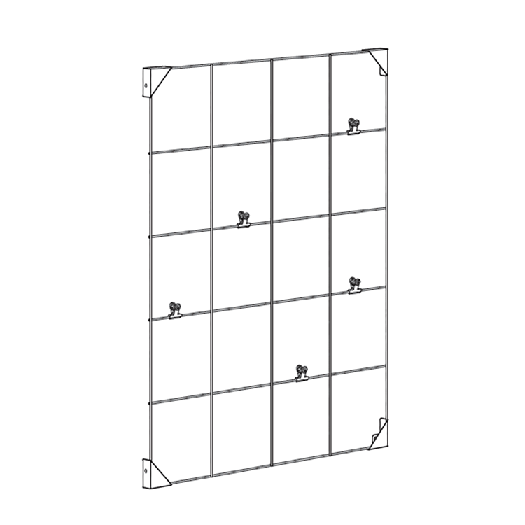 WALL MOUNT MEMO BOARD WITH CLIPS