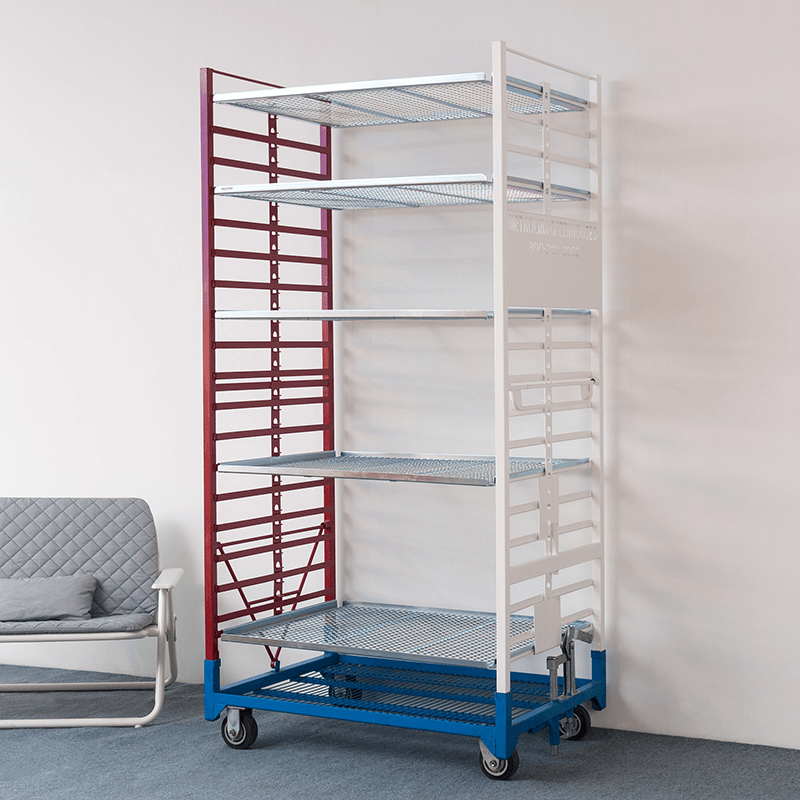Nursery Cart with  Removable Shelves