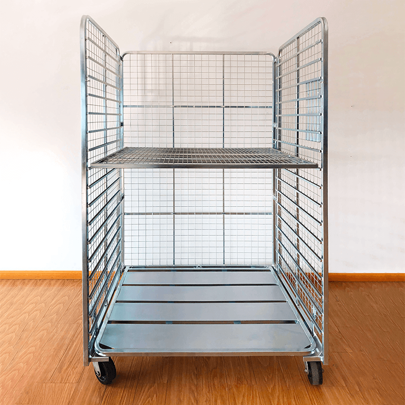 3-Sided FOLDABLE CART WITH REMOVABLE SHELVES